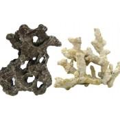 Dirbtiniai koralai, uolos