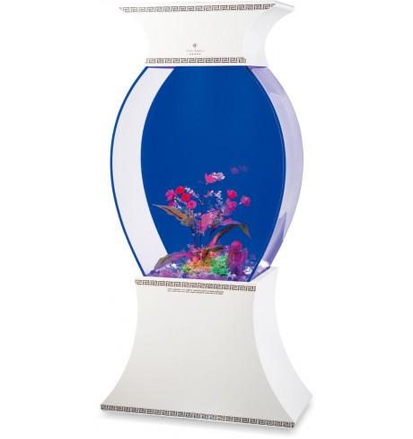 Akrilinis akvariumas YH-B-Vase (baltas), 110 l.