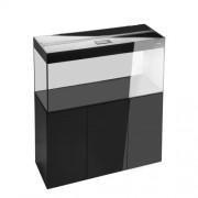 Glossy 120 spintelė stačiakampė juoda su durelėmis, 120 cm