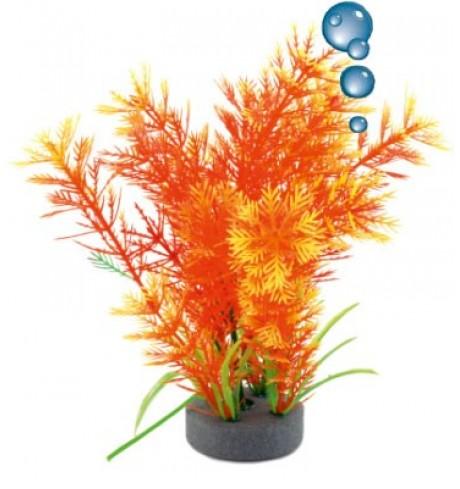 Dirbtinis augalas su oro akmenuku (oranžinis), 19 cm