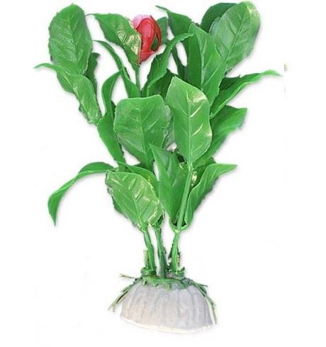 Dirbtinis augalas (su raudonu žiedu), 10 cm